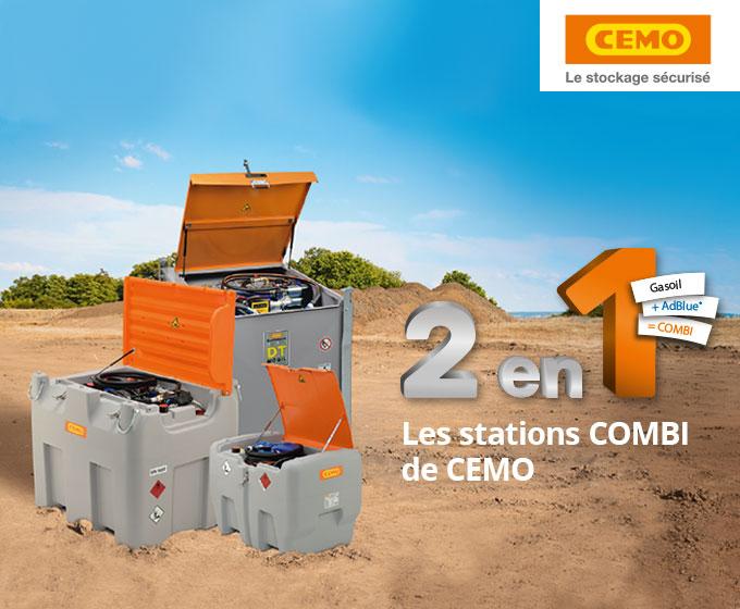 Stations COMBI - 2 en 1